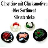 Gluecksbringer-Glassteine-mit-Gluecksmotiven-40er-Sortiment-Silvesterdeko