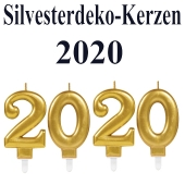 Zahlenkerzen-Set Dekoration Silvester, 2020, Silvesterparty Illumination