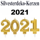 Zahlenkerzen-Set Dekoration Silvester, 2021, Silvesterparty Illumination