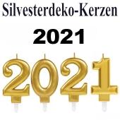 Zahlenkerzen-Set Dekoration Silvester, 2021, Silvesterparty Illumination