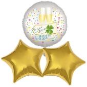 Silvestergrüße mit Heliumballons: Guten Rusch!