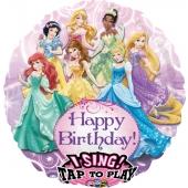 Luftballon mit Musik, Disney Princess zum Geburtstag, ohne Helium