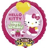Luftballon mit Musik, Hello Kitty zum Geburtstag, ohne Helium