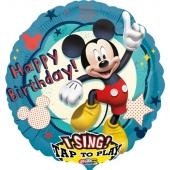Singender Folienballon Micky Maus zum Geburtstag