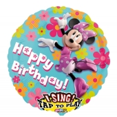 Singender Luftballon, Minnie Maus zum Geburtstag
