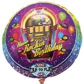 Luftballon mit Musikmodul Rocking Birthday zum Geburtstag