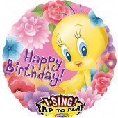 Happy Birthday, singender Folienballon Tweety