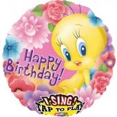 Singender Folienballon Tweety zum Geburtstag