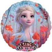Musikballon, Frozen 2, Eiskönigin Elsa, inklusive Helium-Ballongas