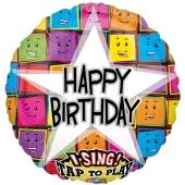 Singender Ballon Birthday Faces