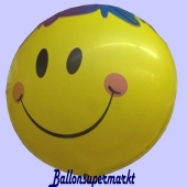 Bubble Luftballon Smiley mit Ballongas Helium