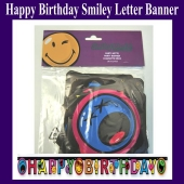 Smiley Letter Banner Happy Birthday Geburtstag