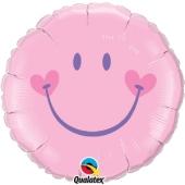 Smiley Girl Rundluftballon zu Babyparty, Geburt und Taufe inklusive Helium