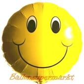 Smiley Luftballon aus Folie inklusive Helium