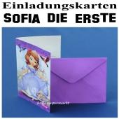 Sofia die Erste Einladungskarten zum Kindergeburtstag