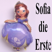 Sofia die Erste Luftballon. Großer Folienballon mit Ballongas-Helium