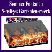 Sommer Fontänen, 5-teiliges Gartenfeuerwerkssortiment