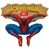 Spider-Man Sprung, Luftballon aus Folie inklusive Helium-Ballongas