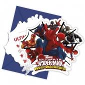 Spider-Man Web Warriors Einladungskarten zum Kindergeburtstag