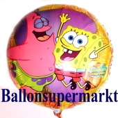 Spongebob und Patrick Folienballon, ungefüllt