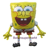 SpongeBob Luftballon aus Folie ohne Helium, Schwammkopf Ballon