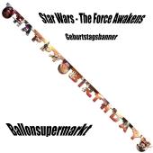 Star Wars The Force Awakens Geburtstagsbanner zum Kindergeburstag