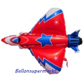 Luftballon Starfighter, Flugzeug, Folienballon mit Ballongas-Helium