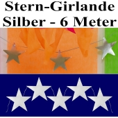 Stern-Girlande Silber