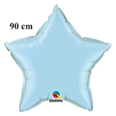 Luftballon aus Folie, Sternballon, Hellblau, 90 cm
