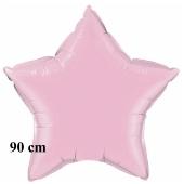 Luftballon aus Folie, Sternballon, Perlmutt Pink, 90 cm