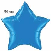 Luftballon aus Folie, Sternballon, Safir Blau, 90 cm
