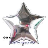 Luftballon aus Folie, Sternballon, Silber, 90 cm