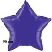 Luftballon aus Folie, Sternballon, Violett, 90 cm