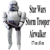 Folienballon Airwalker Storm Trooper, Star Wars, ohne Helium