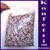 Streukonfetti, Papierkonfetti, 1000 Gramm