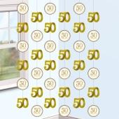 50 Happy Years, String-Dekoration zur Goldhochzeit