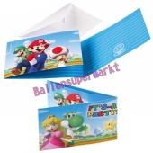 Super Mario Einladungskarten zum Kindergeburtstag