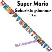 Kindergeburtstagsbanner Super Mario