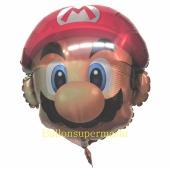 Super Mario Luftballon mit Helium Ballongas