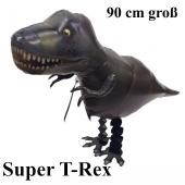 Airwalker Luftballon mit Helium. Großer T-Rex Dinosaurier