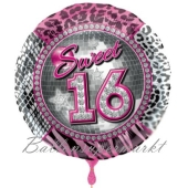 Sweet 16 Luftballon mit Helium Ballongas zum 16. Geburtstag