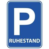Türschild Ruhestand, Parkplatzschild zu Renteneintritt und Pensionierung
