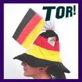 Tanzender Deutschland-Hut, Musikmodul Tor, mit Deutschland-Flagge