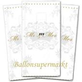 Taschentücher Mr & Mrs Gold zur Hochzeit