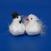 Tauben-Braupaar, Hochzeitsdeko, Tischdekoration Hochzeit