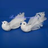 Taubenpaar, Hochzeitsdeko, Tischdekoration Hochzeit mit Clips