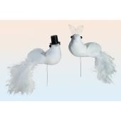 Taubenpaar, Hochzeitsdeko, Tischdekoration Hochzeit