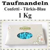 Taufmandeln Confetti, Blau