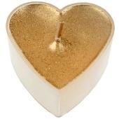 Teelichter in Herzform, Gold