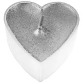 Teelichter in Herzform, Silber